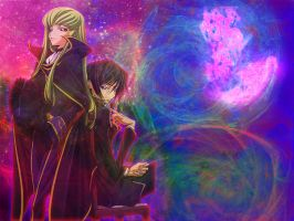 Lelouch And CC by ScrawnyPaleMan