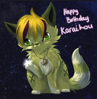 :birthdaygift: The stars in your paws by chocobeery