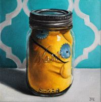 Ugly Doll in a Jar #1 by JessicaEdwards