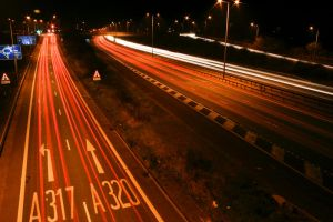 M25 Motorway Traffic Trails 6 by fruitycube