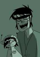 Murdoc and Noodle 3 by Shinohida