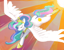 Princess Celestia by Skypup