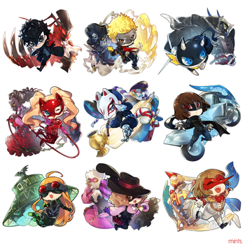 Persona 5 Chibis (with shop link) by redricewine