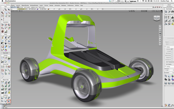 Golf Buggy Concept Alias Modelling by bradders31