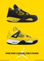 Air Jordan 4 Retro LS 'Thunder and Lightning' Pack by BBoyKai91