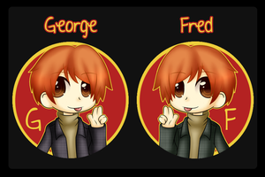 Fred+George Buttons by Nozuki