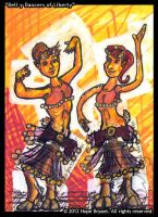 Bell-Y Dancers ATC by halfbreed