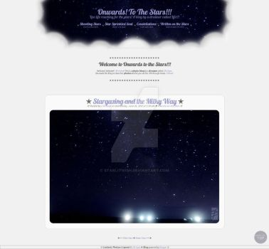 Onwards! To The Stars!!! - Blogger Layout 1 by starlitwish