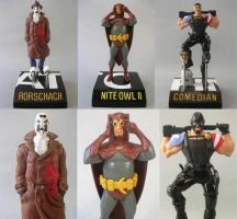 WATCHMEN figures by skinnydevil