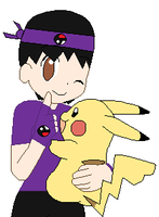 Flame and Pikachu by thecat1313