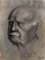 Portrait of old man by Anuk