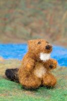 Beaver- Felted Fuzzies by feltAliza