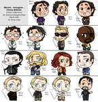Chibi Collection - Avengers - Civies Edition by Kiell-Art