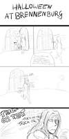 Halloween at Brennenburg (doodle comic) by itami-salami