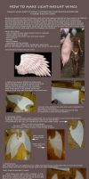 Tutorial: How to make light-weight wings (Kamael) by ElenaLeetah