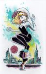 Watercolor: Spider-Gwen by mikemaihack