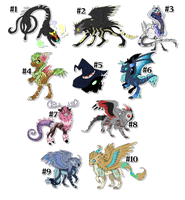 Point adoptables various species by ZIODYNES