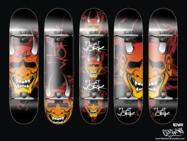 oni skate deck by FLatwork