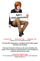 Sketch Commissions Info [closed] by Ajgiel