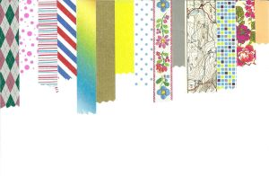 washi tape wallpaper by amarie6678