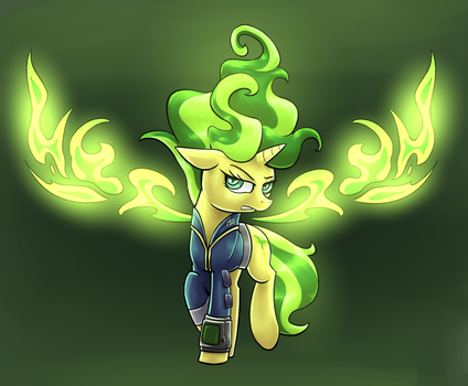 Fallout Equestria - Balefire Shimmer by MattX16