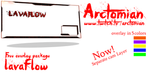 5 Free Stream overlays: Lavaflow by Arctomian