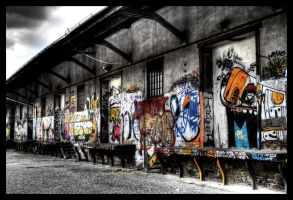 HDR train station grafiti III by Svizac
