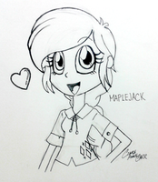 Maplejack Equestria Girls Style by ClaireAnneCarr
