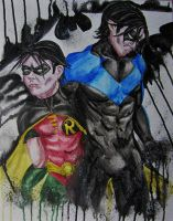 Robin/Nightwing by NicoleHansche
