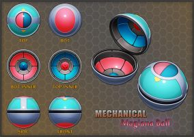 Pokemon: Mechanical Magiana Ball by Requiemsvoid