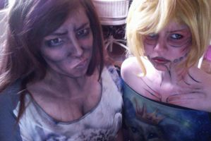 Moe Titan and Female Titan Cosplay Make-Up Test by Charjuku