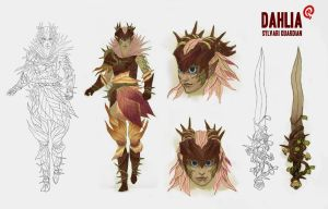 Guild Wars - Dahlia Reference Sheet by Changinghand