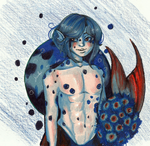 Palette challenge: Deep Sea Prince by CosmicCherry
