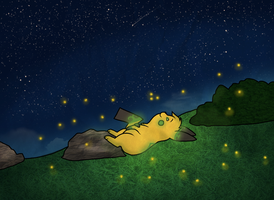 Blanket of Stars by drunkdrawings