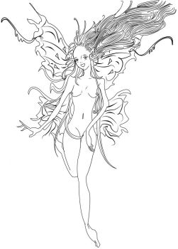 The Aurea Fairy- Linework by SibylWhite