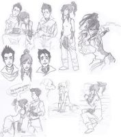 legend of Korra sketch dump 2 by Jazzie560
