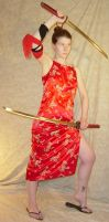 Jodi Red Silk Dress Katana 5 by FantasyStock