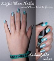 Light Blue Nails by shadowfallx