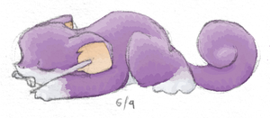 Sleeping Rattata by nattychan