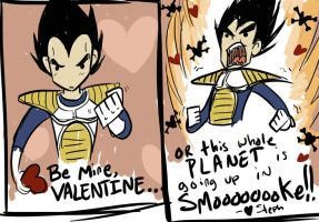 Vegeta Valentine by MarionetteDolly
