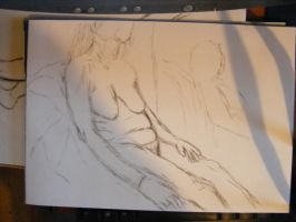 Today's Nude - life drawing by rev-Jesse-C
