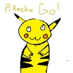 PikachU drawn by my brother by colexthart