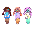 ADOPTABLES: cute bunny sweaters set 2 [OPEN 3/3] by strasberrie