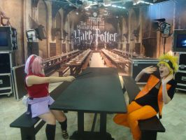 narusaku harry potter by narutine