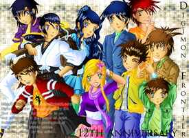 Digimon Frontier: 12th Anniversary by Galistar07water