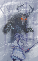 Weiss Schness vs the grimm ghoul by bninja1994