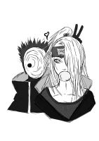 Deidara and Tobi by Ryuzaki231