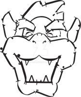 Typographic Portrait-Bowser by kjtgp1