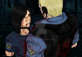 .:Kira and Wesker:..:At the Forest:. by BunnyVirus