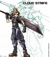 Cloud Strife : Collab by goldhedgehog